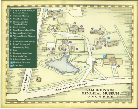 Sam Houston Museum Map